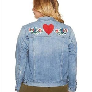 Lucky Brand embroidered denim jacket